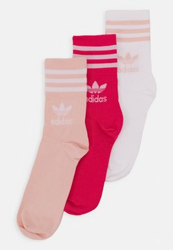 adidas Originals - MID CUT UNISEX 3 PACK - Sukat - white/pink/light pink