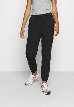 Even&Odd - Regular fit joggers without drawstring - Jogginghose - black
