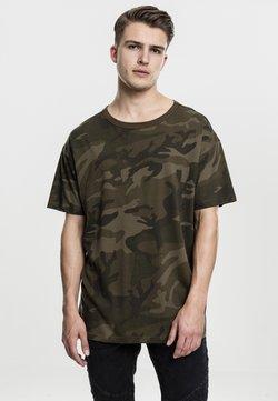 Urban Classics - CAMO OVERSIZED - T-Shirt print - olive camo