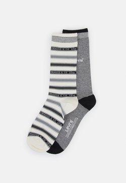 Levi's® - LABEL STRIPE REGULAR CUT 2 PACK - Socken - middle grey melange/anthracite