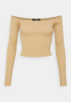 Missguided Tall - CROPPED JUMPER - Langarmshirt - camel