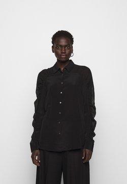 KARL LAGERFELD - BLOUSE GATHERING - Camisa - black