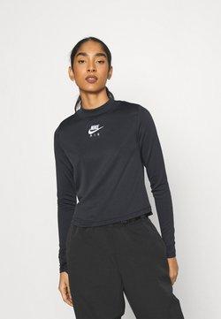 Nike Sportswear - AIR MOCK - Langarmshirt - black/iron grey/white