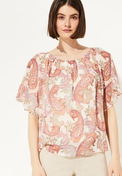 comma - MIT PAISLEY-MUSTER - Bluse - rose summer paisley