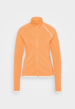 ONLY Play - ONPPERFORMANCE RUN BRUSHED ZIP - Chaqueta de deporte - sunset orange/black