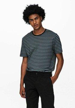 Only & Sons - GESTREIFT - T-Shirt print - dark navy