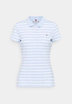 Tommy Hilfiger - SHORT SLEEVE SLIM STRIPE - Poloshirt - breezy blue