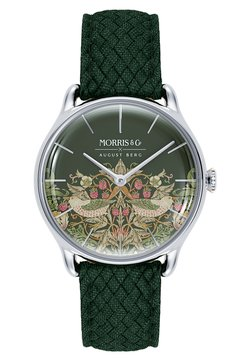 August Berg - UHR MORRIS & CO SILVER GREEN PERLON 30MM - Montre - fennel