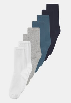 Name it - NKMFAX 8 PACK - Calcetines - light grey melange
