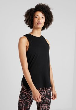 Cotton On Body - ACTIVE CURVE HEM TANK - Top - black
