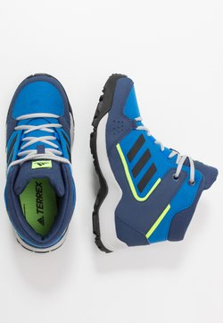adidas Performance - TERREX HYPERHIKER TRAXION HIKING SHOES - Obuwie hikingowe - glow blue/core black/signal green