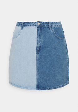 Missguided Plus - SPLICED SKIRT - Minirock - blue