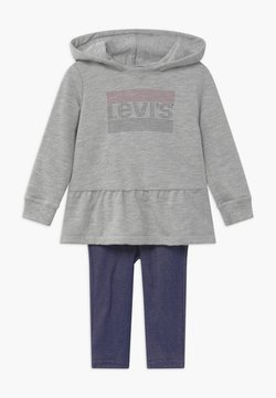 Levi's® - PEPLUM HOODIE SET - Huppari - mottled grey/dark blue