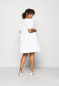 NU-IN - WIDE COLLAR MINI DRESS - Kjole - white