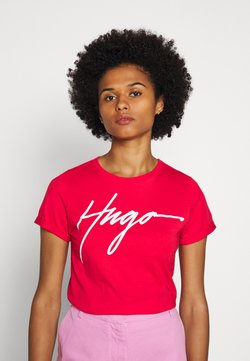 HUGO - THE SLIM TEE - T-Shirt print - bright red