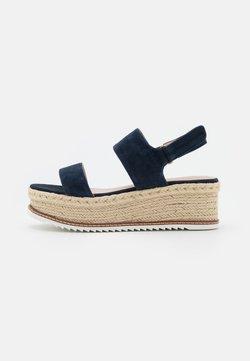 Marc O'Polo - TROPEZ  - Korkeakorkoiset sandaalit - navy