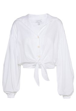 Topshop Petite - TIE FRONT - Bluse - white