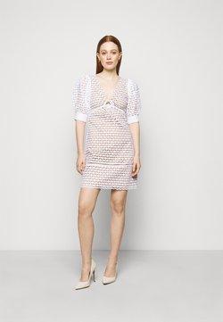 MICHAEL Michael Kors - GEO EYELET MINI DRESS - Vestido informal - white