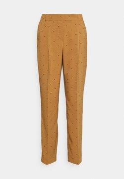 Vero Moda - VMMORGAN PANT - Stoffhose - tobacco brown/black