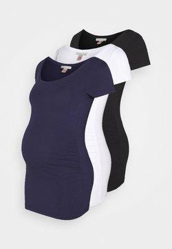 Anna Field MAMA - 3 PACK - Camiseta básica - white/dark blue/black