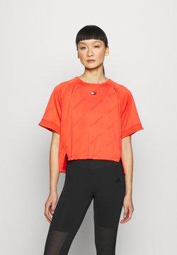 Tommy Hilfiger - PERFORMANCE BOXY - T-Shirt print - orange