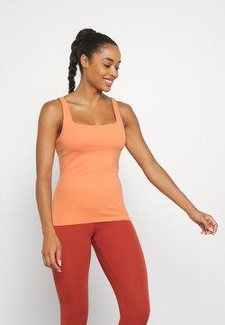 Nike Performance - THE YOGA LUXE TANK - Linne - healing orange/apricot agate