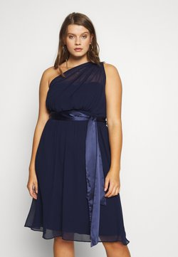 Dorothy Perkins Curve - JENNI ONE SHOULDER MIDI DRESS - Cocktail dress / Party dress - navy