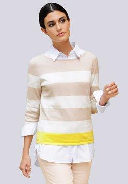 Alba Moda - Strickpullover - sand,gelb,off-white