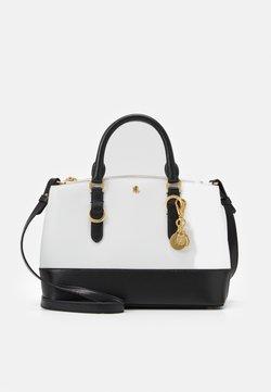 Lauren Ralph Lauren - MINI ZIP SATCHEL MINI - Handtasche - optic white/black