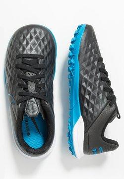 Nike Performance - TIEMPO JR LEGEND 8 ACADEMY TF UNISEX - Fotbollsskor universaldobbar - black/blue hero