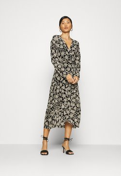 Fabienne Chapot - NATASJA FRILL DRESS - Robe d'été - black/oatmeal