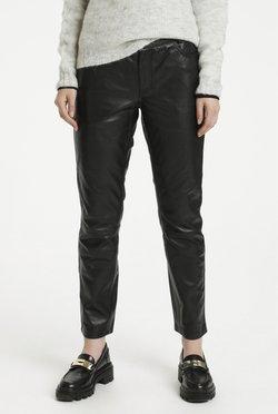 My Essential Wardrobe - Pantalon en cuir - black