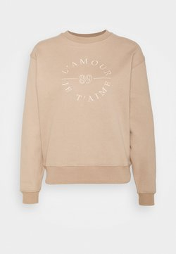 Forever New - SLOAN SLOGAN L'AMOUR - Sweater - coffee/white