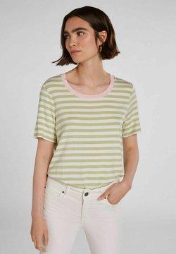 Oui - T-Shirt print - lt green white