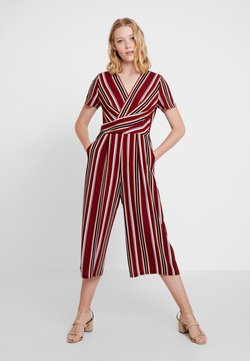 comma - OVERALL - Jumpsuit - dark red/multi-coloured