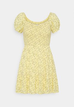 Hollister Co. - SHORT DRESS - Vapaa-ajan mekko - yellow