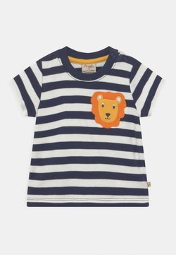 Frugi - POLZEATH POCKET LION UNISEX - Camiseta estampada - indigo