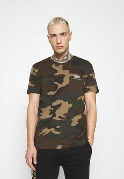 Alpha Industries - T-Shirt print - mottley green