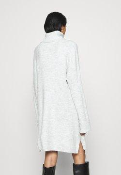Topshop - PLATED FUNNEL DRESS - Jumper dress - grey marl