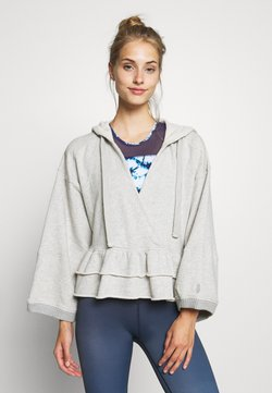 Free People - SIDE SWEPT HOODIE - Kapuzenpullover - grey