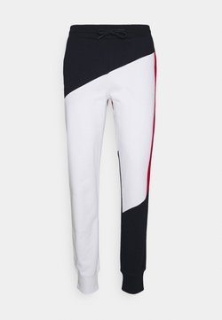 Tommy Hilfiger - BLOCKED TERRY CUFFED PANT - Jogginghose - blue/white/red