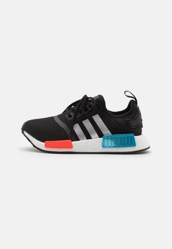 adidas Originals - NMD_R1 SHOES - Sneaker low - core black/silver metallic/solar red