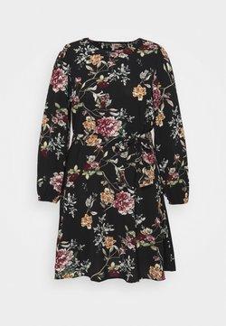 ONLY Carmakoma - CARLUXMILA PUFF KNEE DRESS - Vapaa-ajan mekko - black