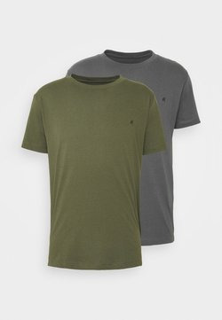 Replay - 2 PACK - Basic T-shirt - olive/grey