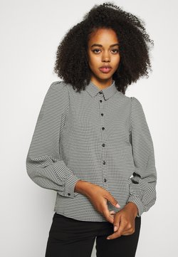 Vero Moda - VMBEATE - Button-down blouse - black/snow white