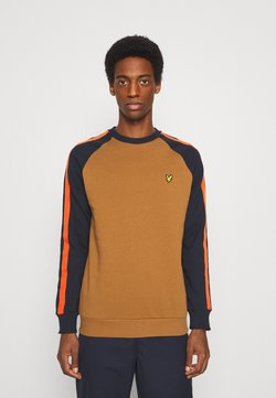 Lyle & Scott - COLOUR BLOCK CREW - Sweatshirt - tawny brown