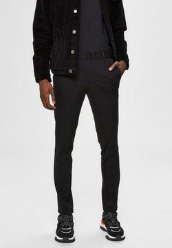 Selected Homme - FLEX FIT HOSE SLIM FIT - Chinot - black
