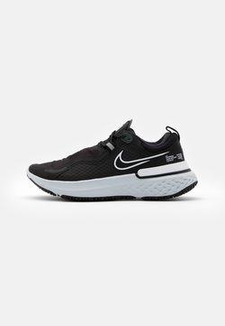 Nike Performance - REACT MILER SHIELD - Scarpe running neutre - black/white/pure platinum/dark smoke grey/reflect silver