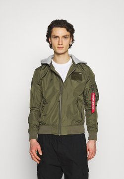 Alpha Industries - HOOD CUSTOM - Giubbotto Bomber - dark olive