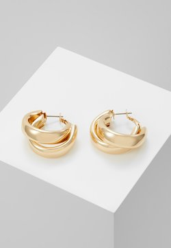 Topshop - CHUNK LAYER HOOP - Earrings - gold-coloured